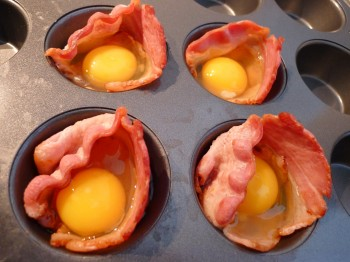 bacon wrapped eggs 1