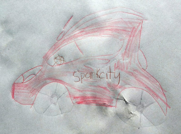 Chevy Spark drawing