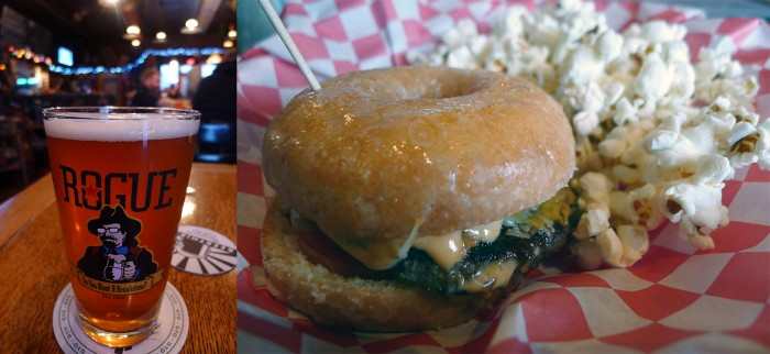 Sharkey's Seafood Bar & Grille - Glazed donut burger