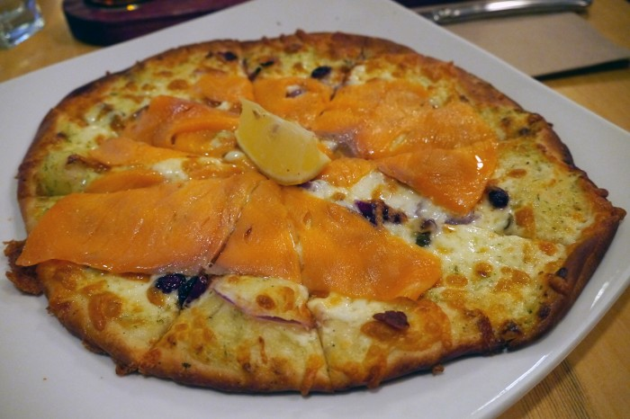 "... Smoked Salmon"", BC smoked salmon, creamy dill, capers, red onion"