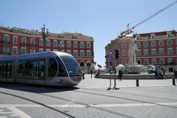 trains in Nice, France