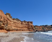 Sa Caleta beach cliffs