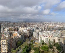 Sagrada Familia - view of Barcelona
