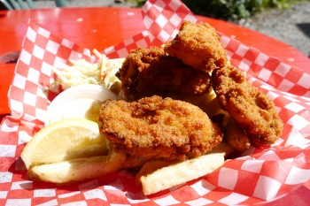 Westside Grill - deep fried oysters and chips