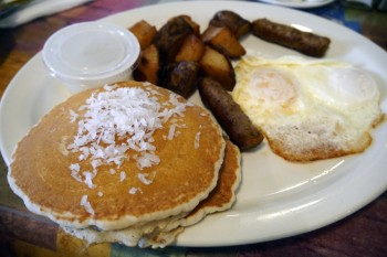 seaside grill - coconut pancakes