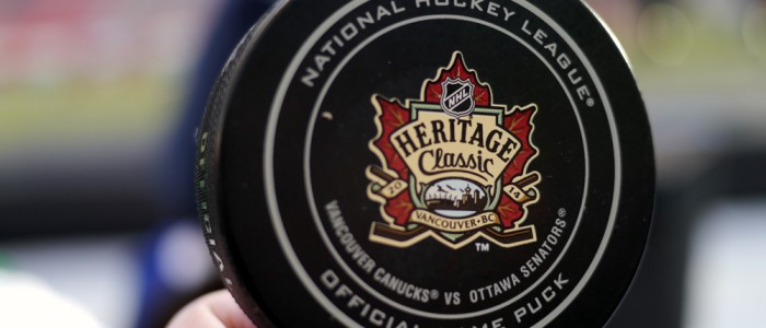 NHL Heritage Classic puck