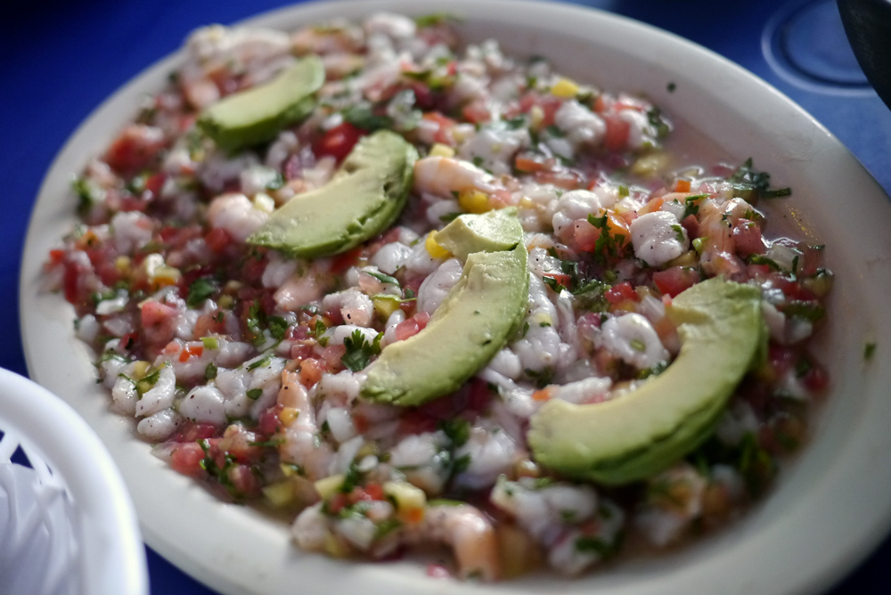 Shrimp fish ceviche pangcouver for Shrimp and fish ceviche
