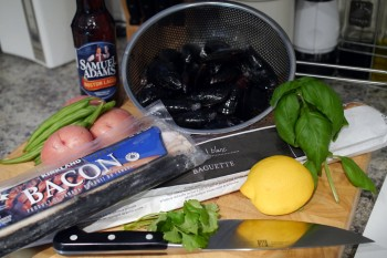 Beer bacon mussels recipe