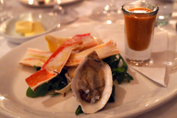 Seasons-in-the-Park---oyster,-crab,-gazpacho
